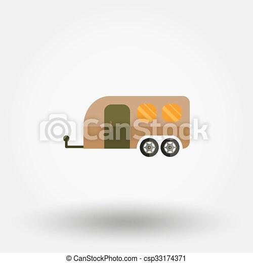 lakás, utazás, icon., kúszónövény - csp33174371