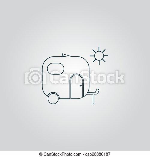 lakás, utazás, ikon, kúszónövény - csp28886187