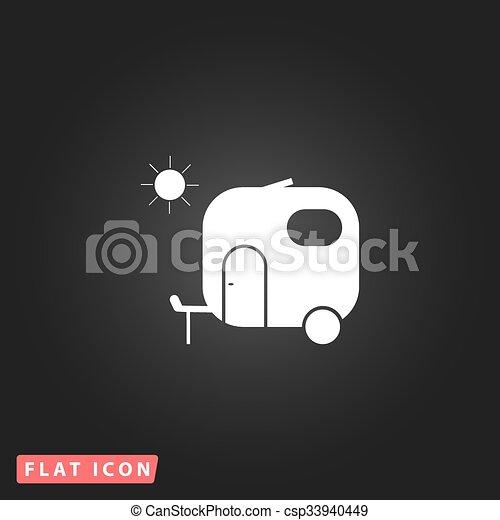 lakás, utazás, ikon, kúszónövény - csp33940449