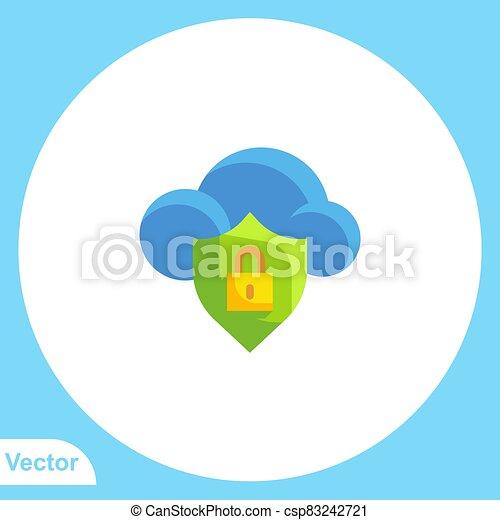 lakat, vektor, aláír, jelkép, ikon, lakás - csp83242721