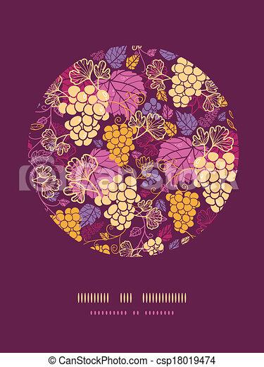 lakberendezési tárgyak, szőlő, kellemes, szőlőtőke, háttér példa, karika - csp18019474