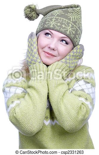 leány, meleg, öltözék - csp2331263