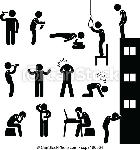 leenged, öngyilkosság, emberek, bús, megöl, ember - csp7196564