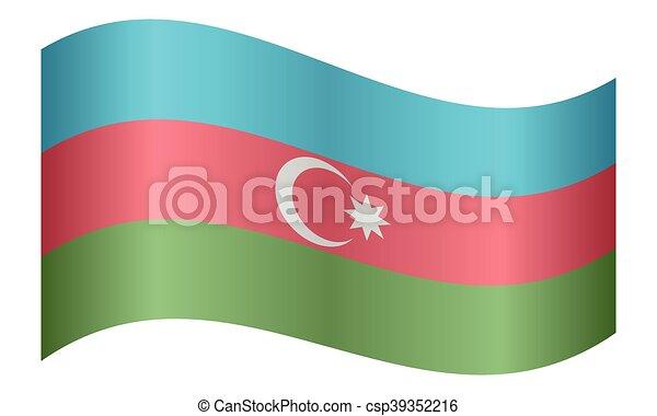 lenget lobogó, fehér, azerbajdzsán, háttér - csp39352216
