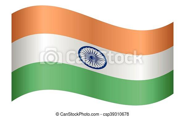 lenget lobogó, india, white háttér - csp39310678
