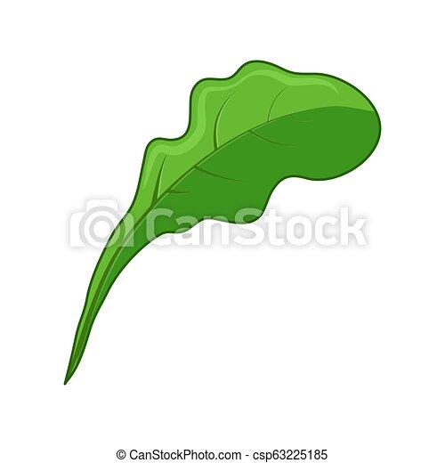 levél növényen, elszigetelt, tervezés, háttér, növényi, fehér, ikon - csp63225185