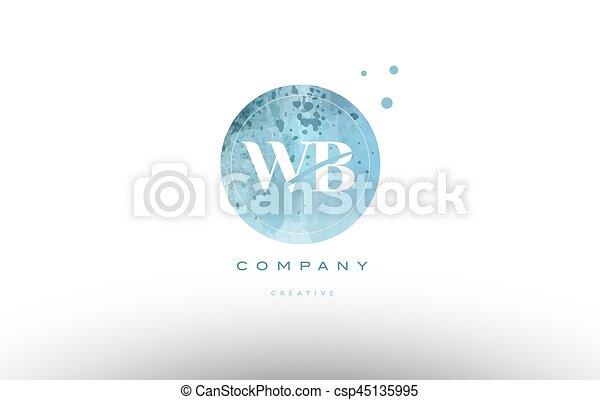 levél, vízfestmény, jel, wb, grunge, abc, nyugat, szüret, b betű - csp45135995