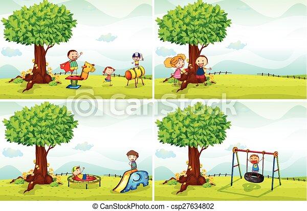 liget, gyerekek - csp27634802