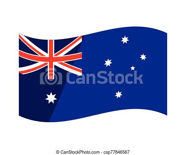 lobogó, ausztrália, white háttér, nemzeti - csp77846567