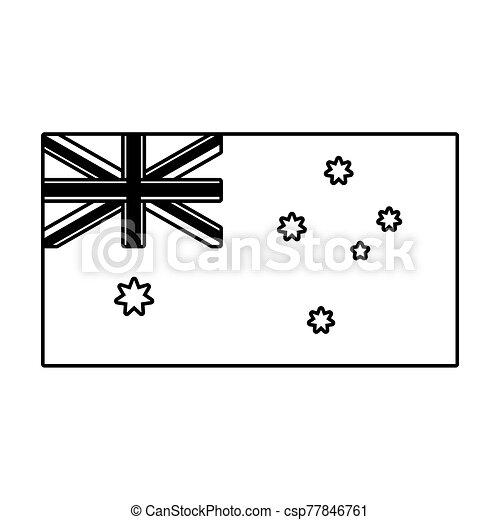 lobogó, ausztrália, white háttér, nemzeti - csp77846761