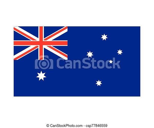 lobogó, ausztrália, white háttér, nemzeti - csp77846559
