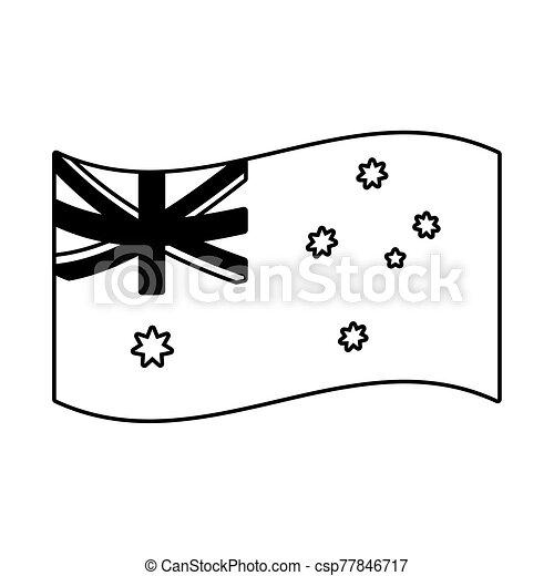 lobogó, ausztrália, white háttér, nemzeti - csp77846717
