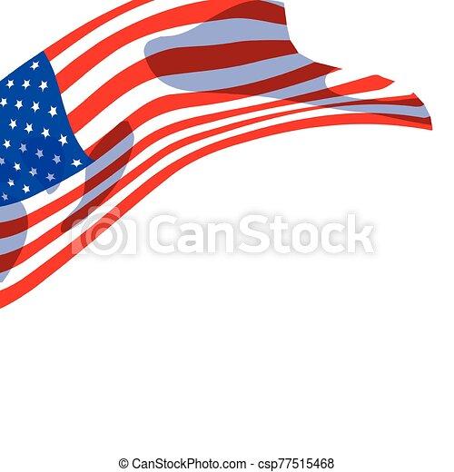 lobogó, egyesült, háttér, fehér, egyesült államok - csp77515468