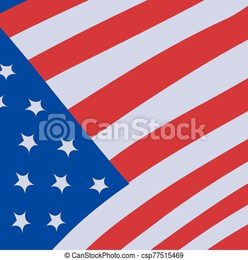 lobogó, egyesült, háttér, fehér, egyesült államok - csp77515469