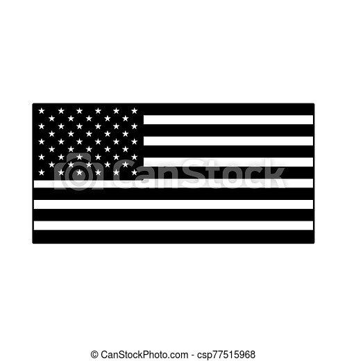 lobogó, egyesült, háttér, fehér, egyesült államok - csp77515968