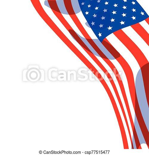 lobogó, egyesült, háttér, fehér, egyesült államok - csp77515477