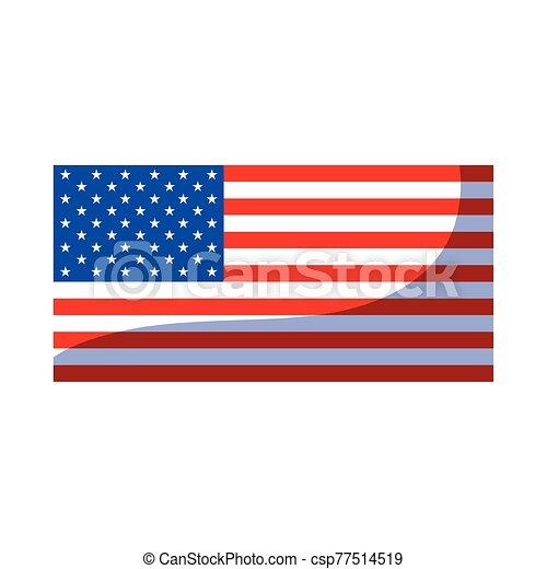 lobogó, egyesült, háttér, fehér, egyesült államok - csp77514519