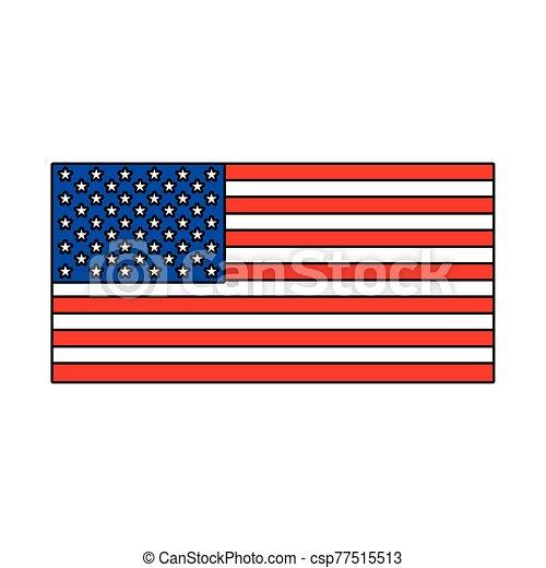 lobogó, egyesült, háttér, fehér, egyesült államok - csp77515513