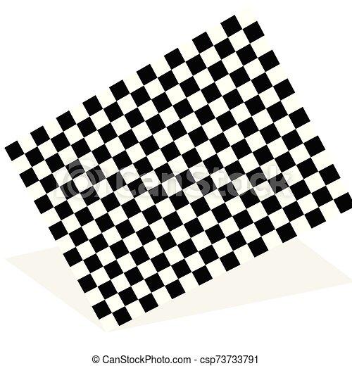 lobogó, faj, árnyék, elszigetelt, elem, fehér, versenyzés - csp73733791