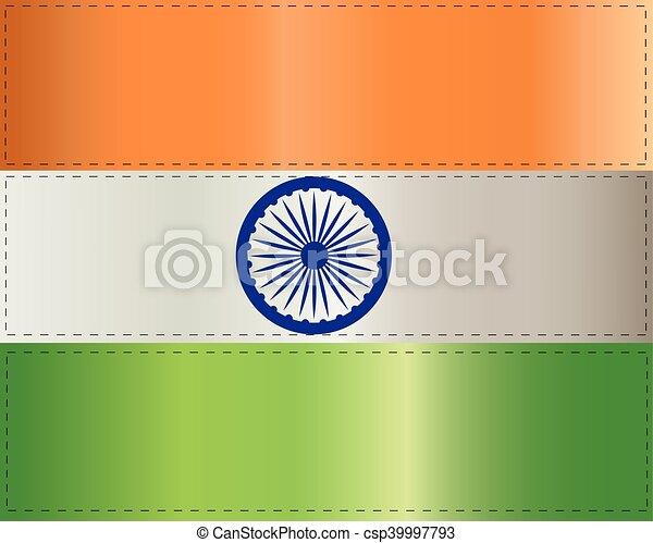 lobogó, fehér, india, háttér, ábra - csp39997793