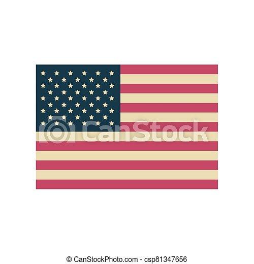 lobogó, háttér, egyesült, fehér, egyesült államok - csp81347656