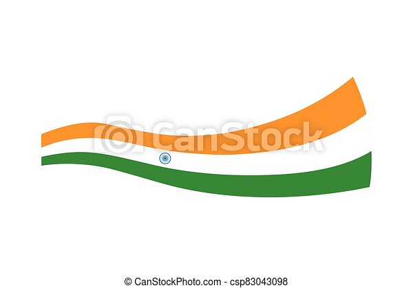lobogó, háttér, fehér, india - csp83043098