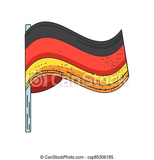 lobogó, háttér, hullámzás, fehér, németország - csp85306185