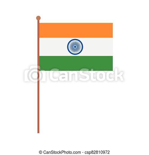 lobogó, nemzeti, háttér, india lobogó, lengyel, fehér - csp82810972