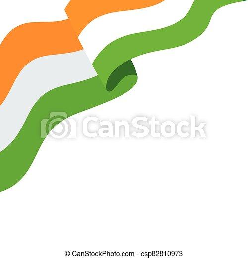 lobogó, nemzeti, háttér, india lobogó, fehér - csp82810973