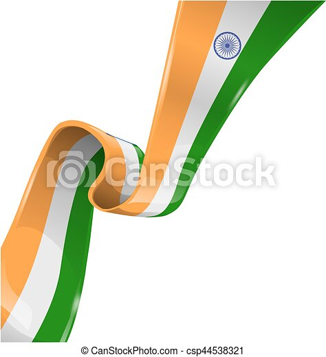 lobogó, szalag, india, white háttér - csp44538321