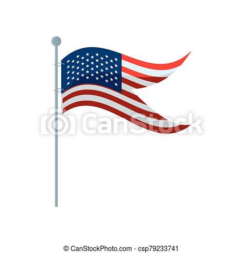lobogó, white háttér, egyesült államok - csp79233741
