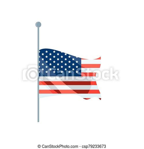 lobogó, white háttér, egyesült államok - csp79233673