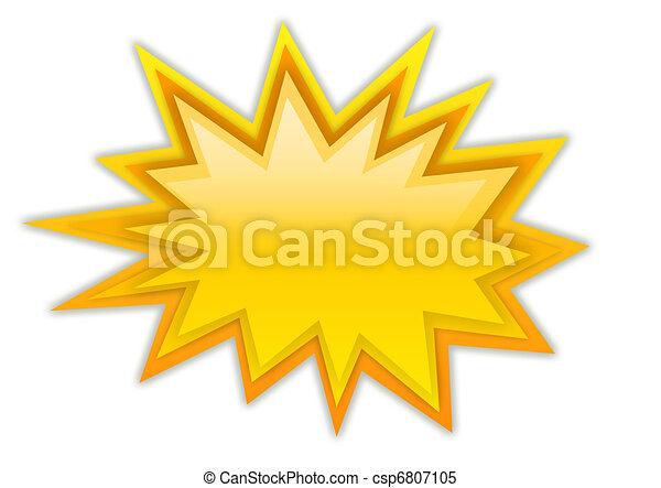 loccsanás, csillag, dörgés - csp6807105