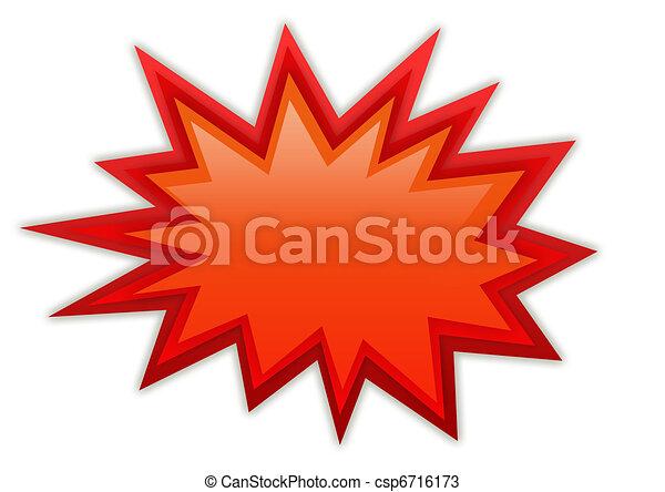 loccsanás, dörgés, ikon - csp6716173