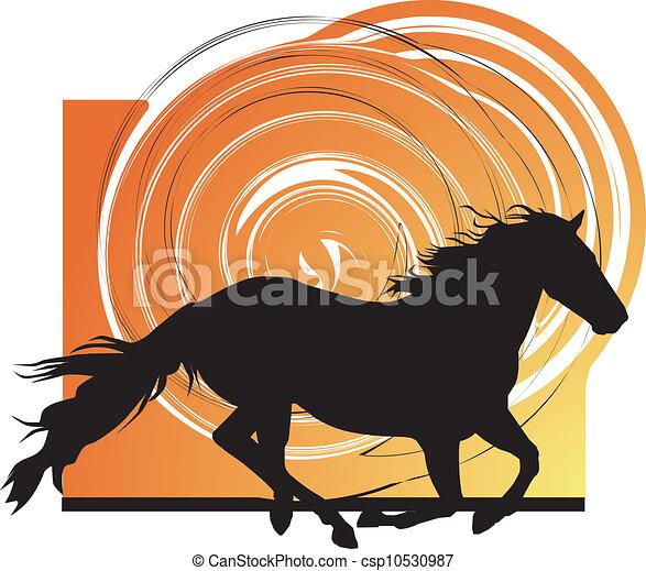 lovak, silhouettes., elvont, vektor - csp10530987