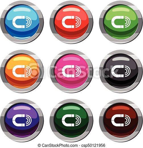 mágnes, 9, állhatatos, gyűjtés - csp50121956