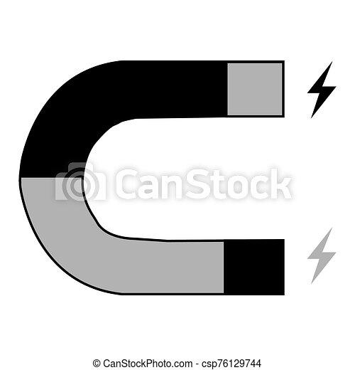 mágnes, ikon, tervezés, lakás, háttér, fehér - csp76129744