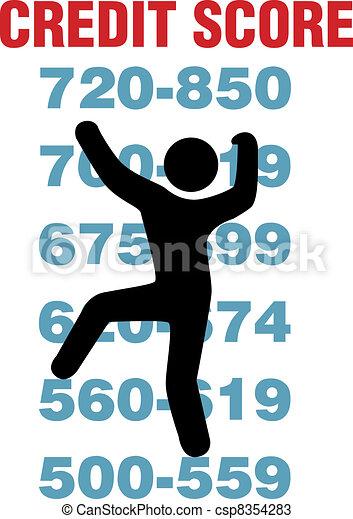 mászik, feláll, jobb, hitel, bemetsz, fogyasztó, kártya - csp8354283
