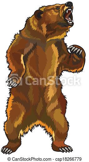 mérges, grizzly tart - csp18266779