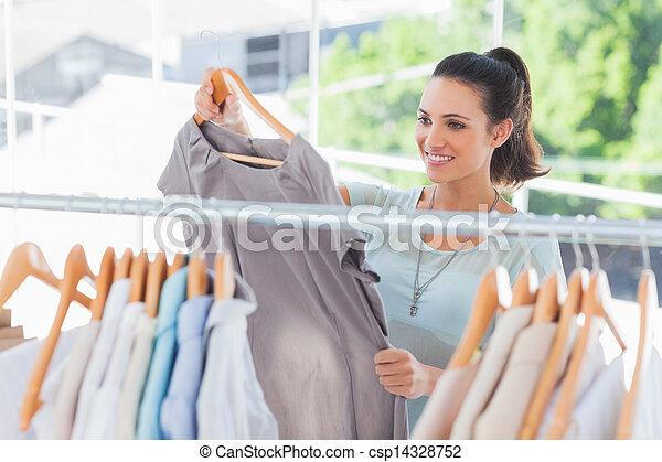 mód, eldöntés, ruha, nő - csp14328752