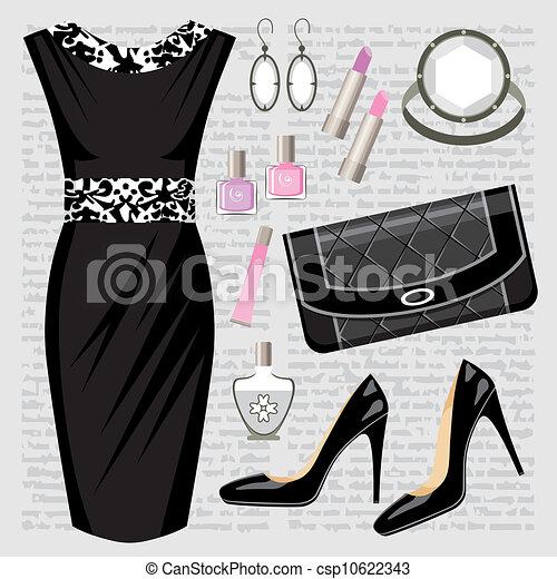 mód, ruha, állhatatos - csp10622343