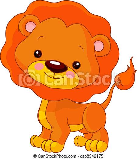 móka, oroszlán, zoo. - csp8342175