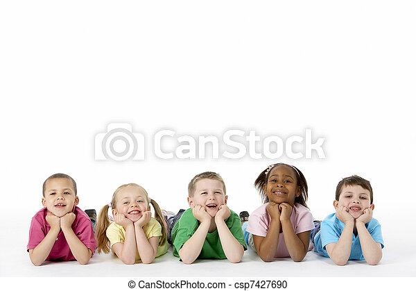 műterem, csoport, young gyermekek - csp7427690