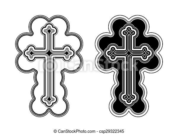 művészet, csíptet, apostoli, kereszt, hagyományos, örmény, templom - csp29322345