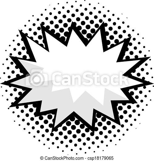 művészet, komikus, beszéd, váratlanul, buborék - csp18179065