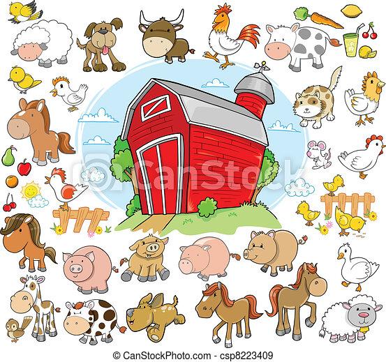 major állat, díszlet tervezés, vektor - csp8223409