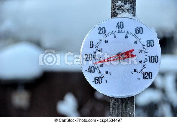 megfázás időjárás, lázmérő - csp4534497