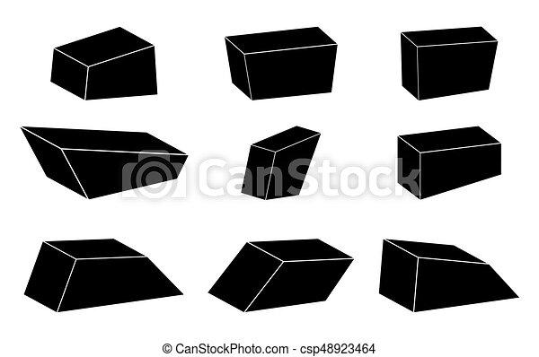 megkövez, állhatatos, egyszerű, jelkép, vektor, tervezés, ikon - csp48923464