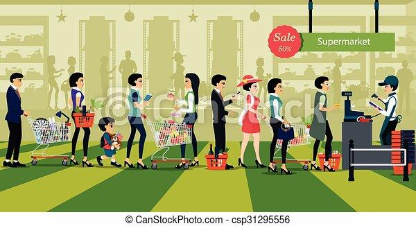 megvásárol, élelmiszer áruház - csp31295556
