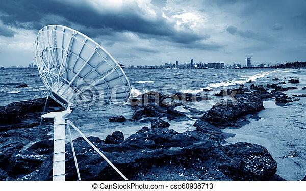 mellékbolygó, antenna, tenger - csp60938713